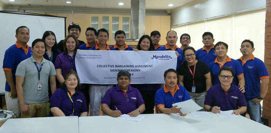 Mondelez Philippines Cba Signing 2017 News Releases Philippines